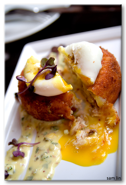 Halibut Brandade Croquette with yolk