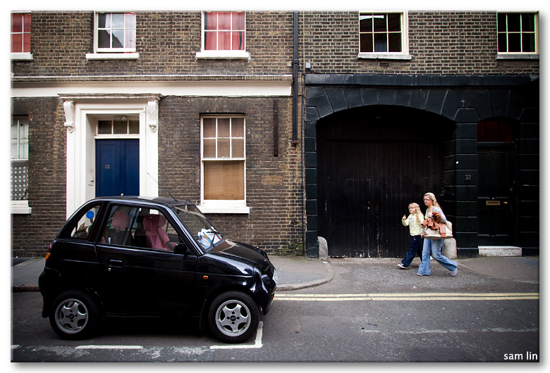 Smart car streets of London