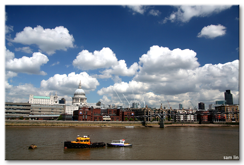 Thames River and Clouds