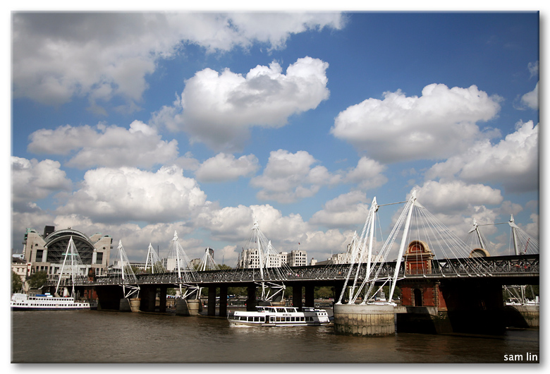 River Thames and Clouds