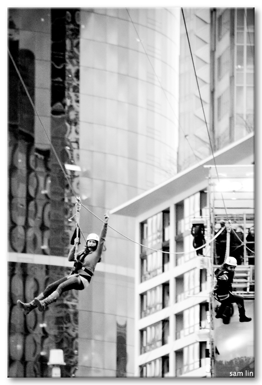 Robson Square Zip Line