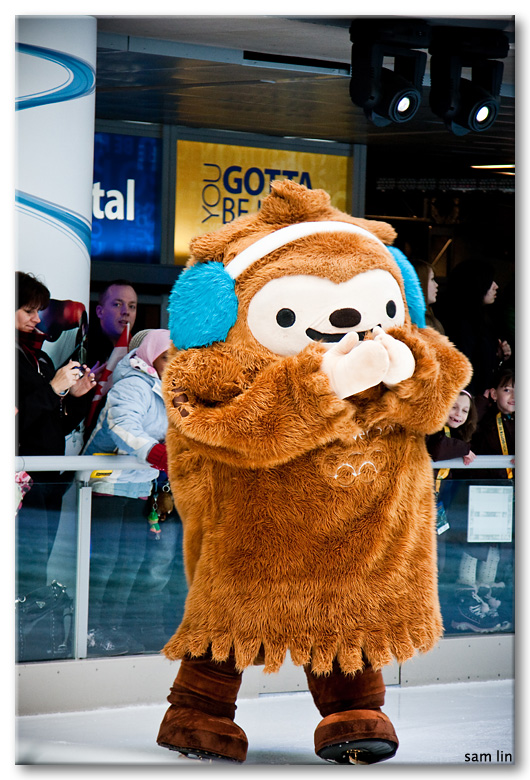 Olympic Mascot on Ice