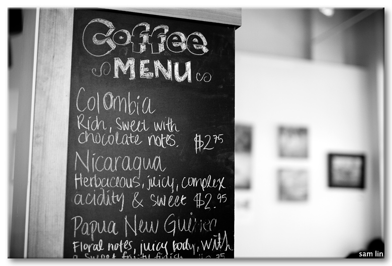 Rocanini Coffee Menu