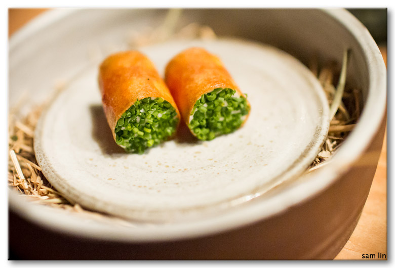 Crispy Crepe with Salmon Roe